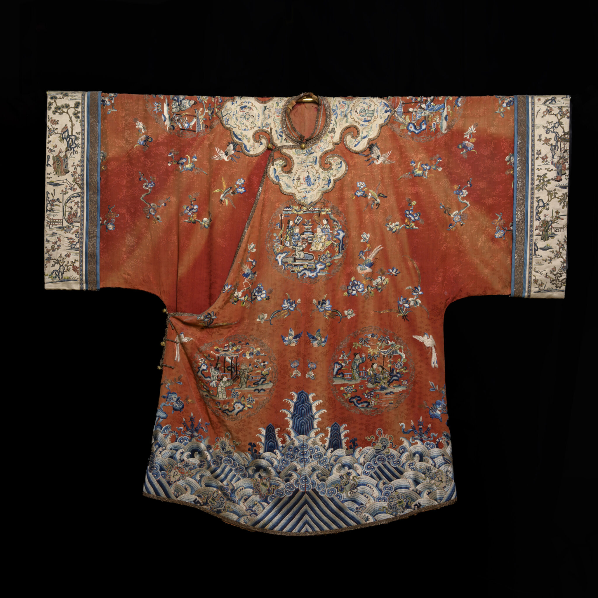 Exemplary 19th Century Qing Dynasty Chinese Embroidered Court Robe | Sold for $4,125