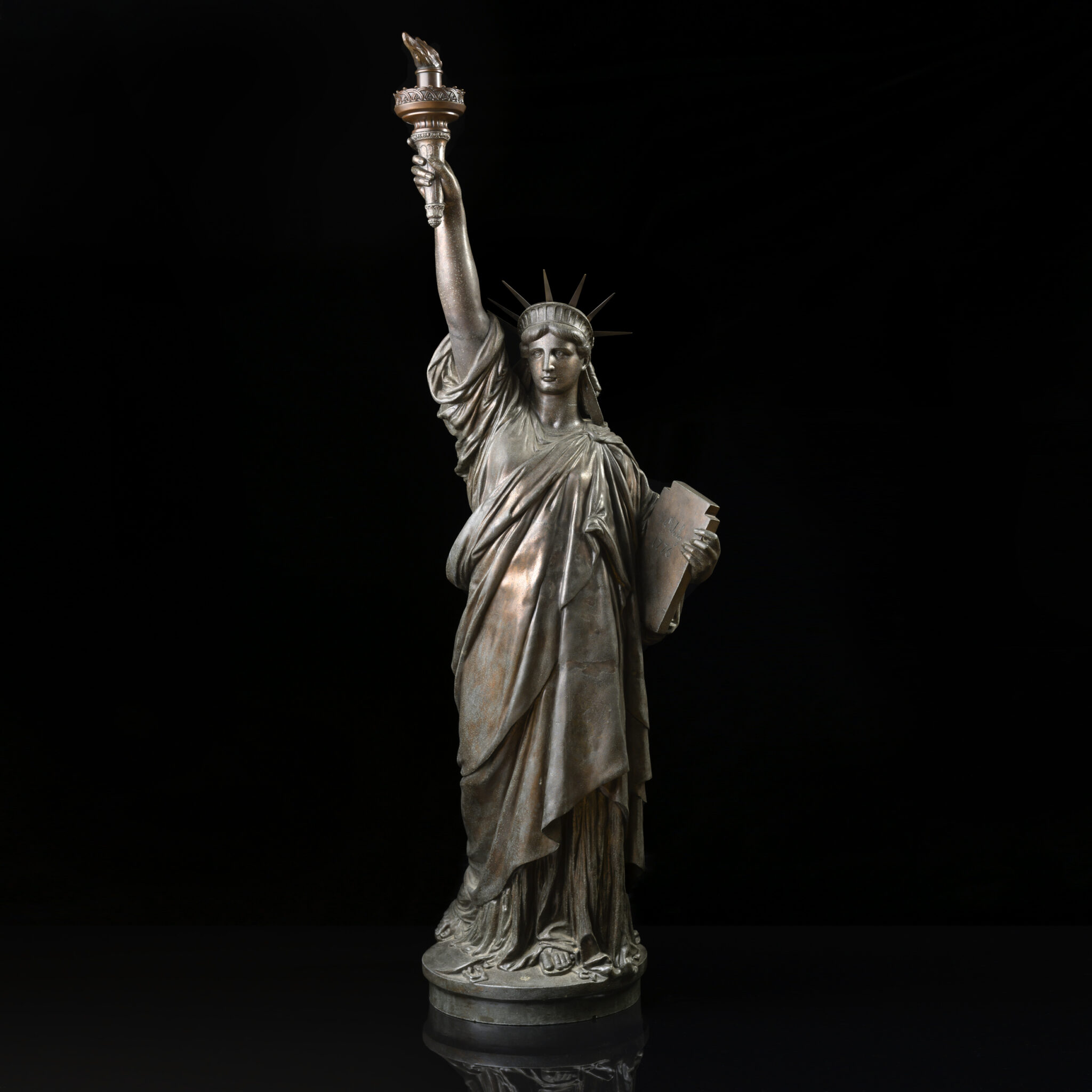 "Important Avoiron Foundry ""Statue of Liberty"" by Frederic Auguste Bartholdi (French, 1834-1904) 