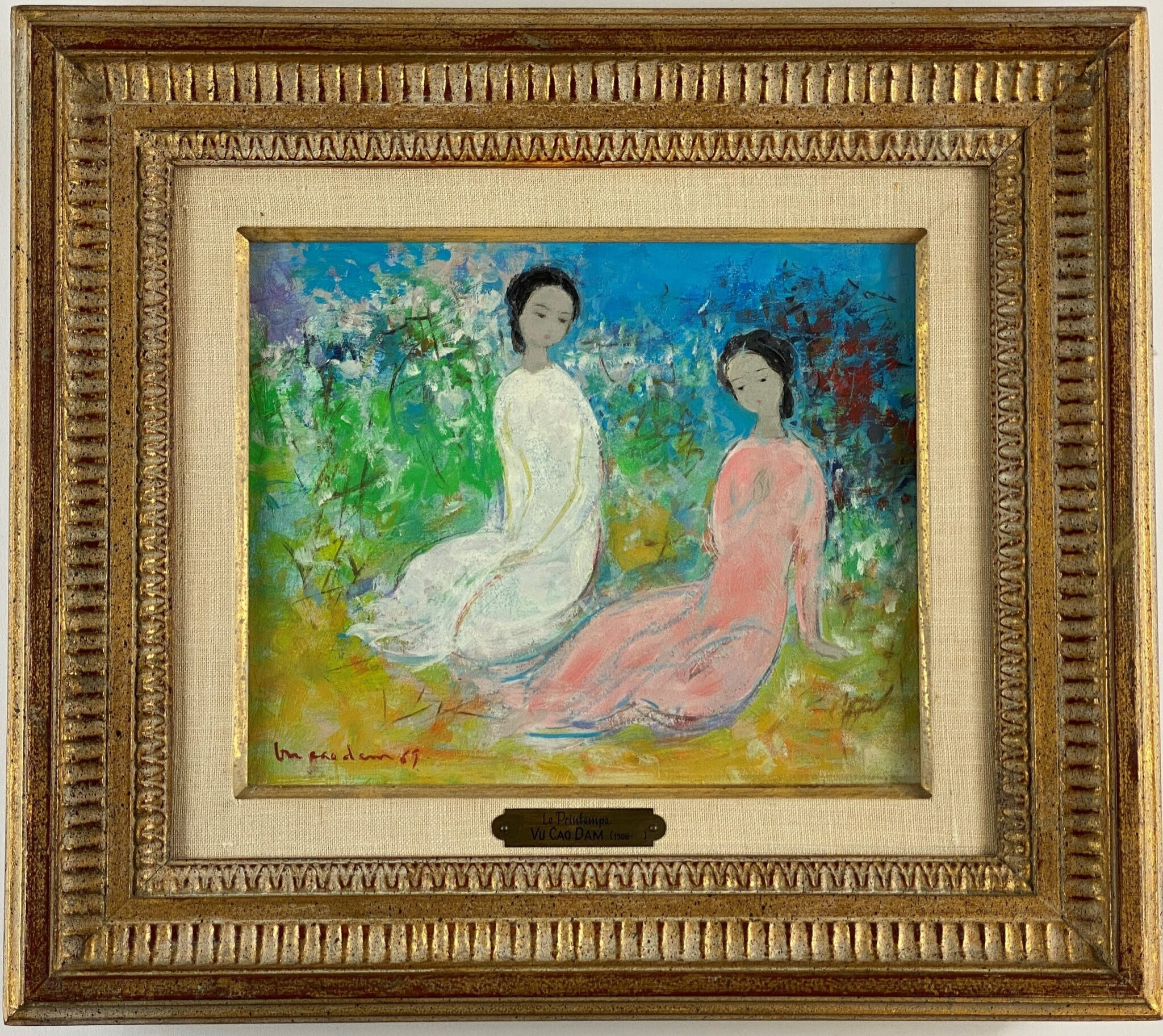 "Vu Cao Dam (Vietnamese, 1908-2000), ""Le Printemps"" 