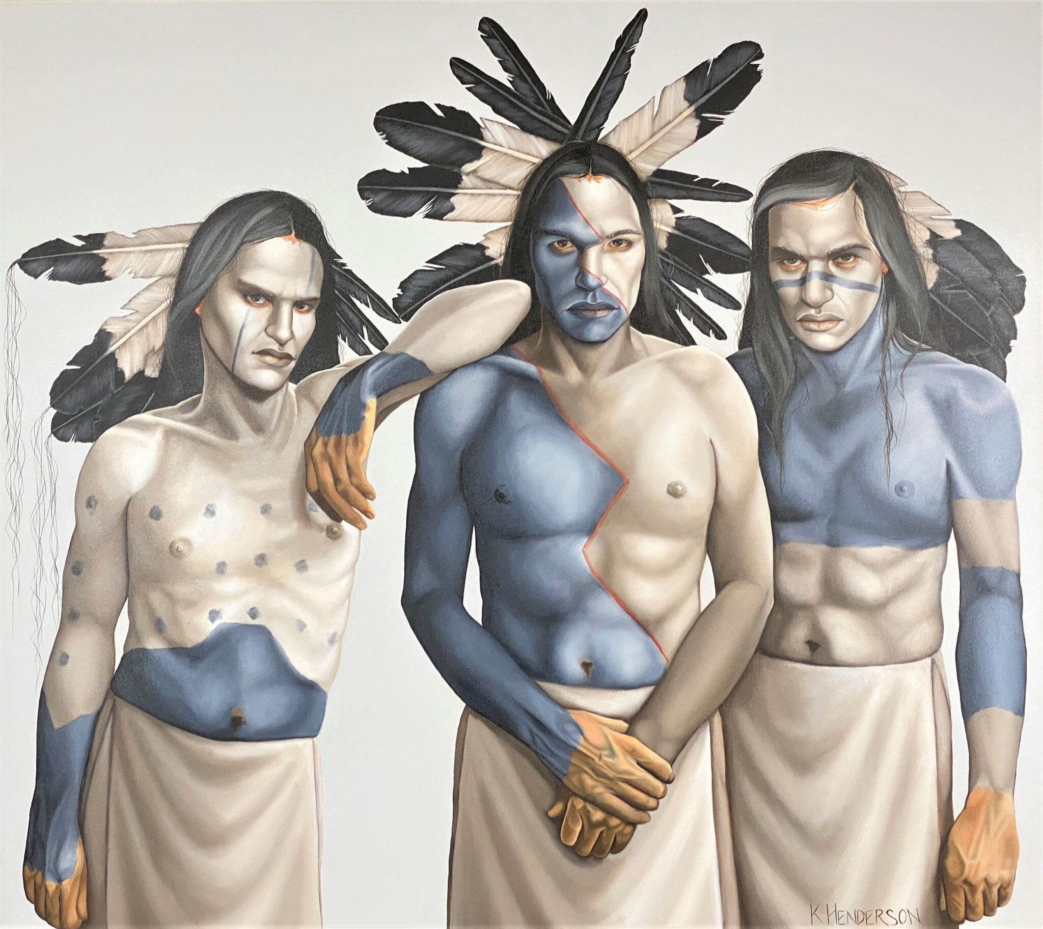 "Exceptional K. Henderson Oil ""Native Sons"" 