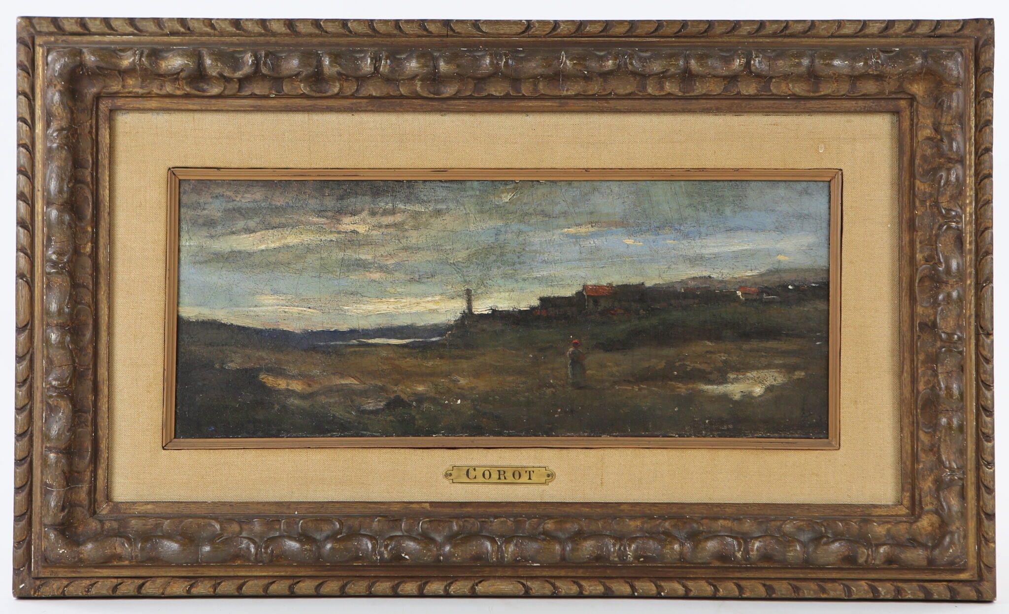 """SOUVENIR DU PHARE DE CAYEAUX"" BY COROT 