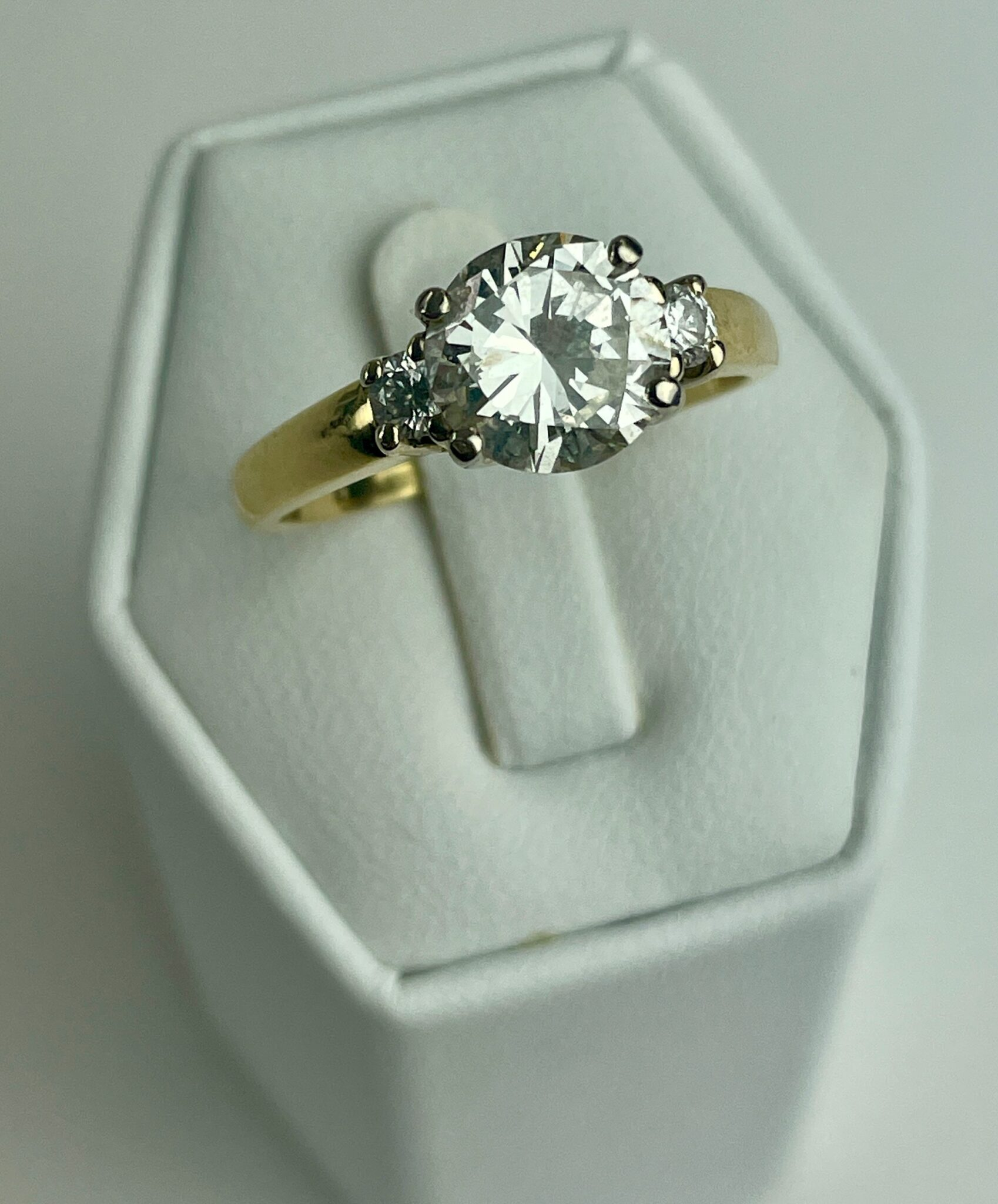 2.3 CT. 18K SOLITAIRE RING | Sold for $5,900