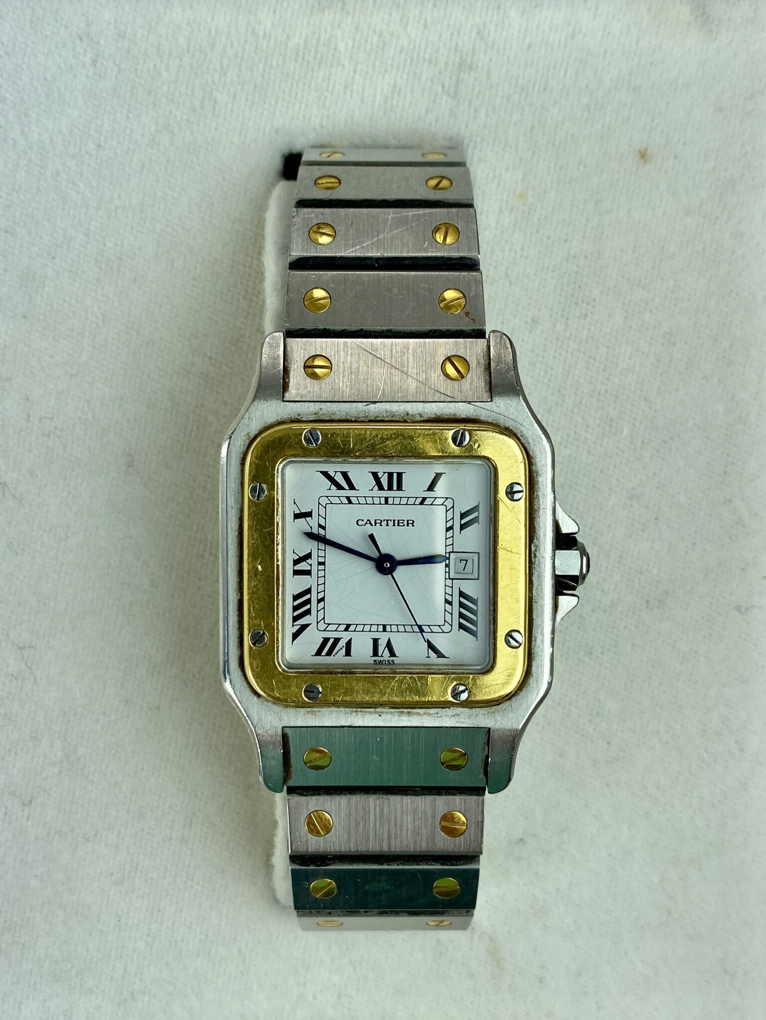 CARTIER MONTRES SANTOS WATCH  | Sold for $2,690