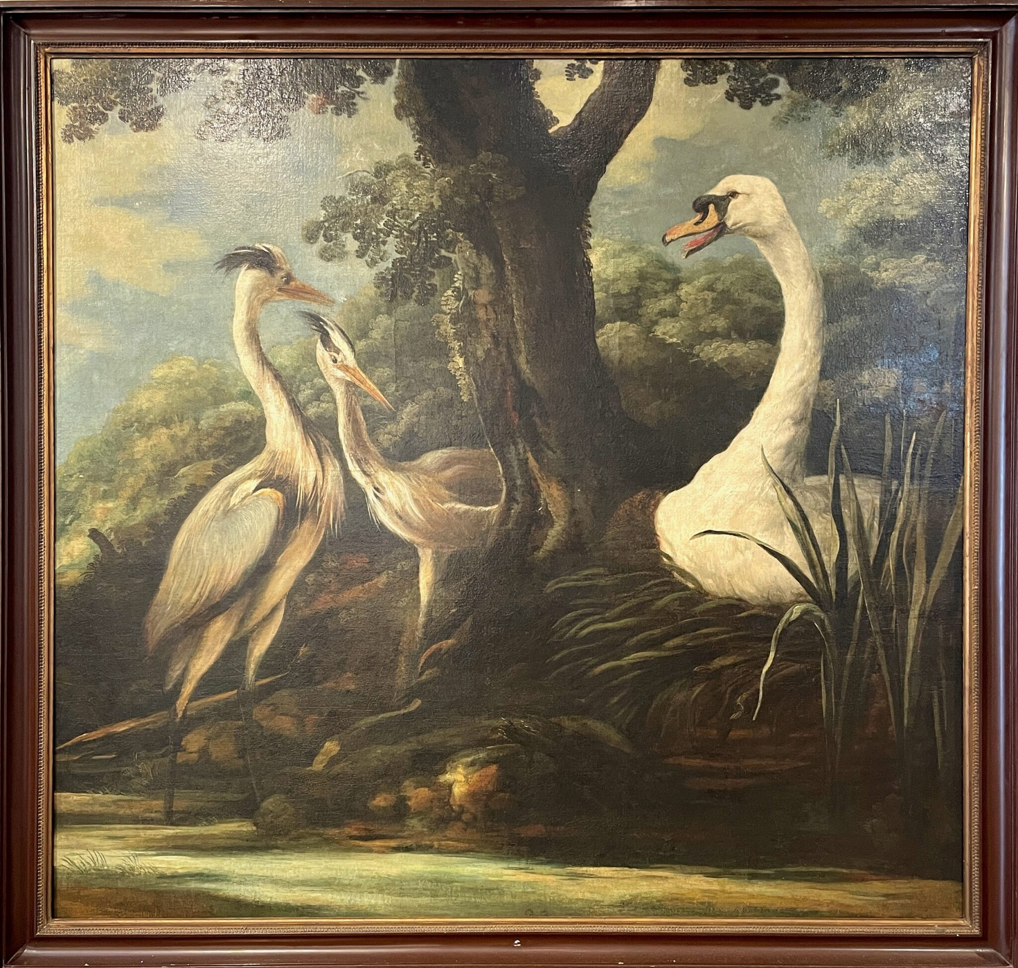 18TH CENTURY GRADIOSE SWAN OIL | Sold for $20,480